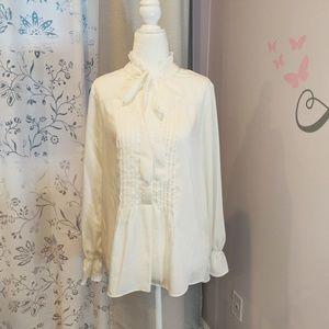 Nanette ivory elegant blouse. NWOT